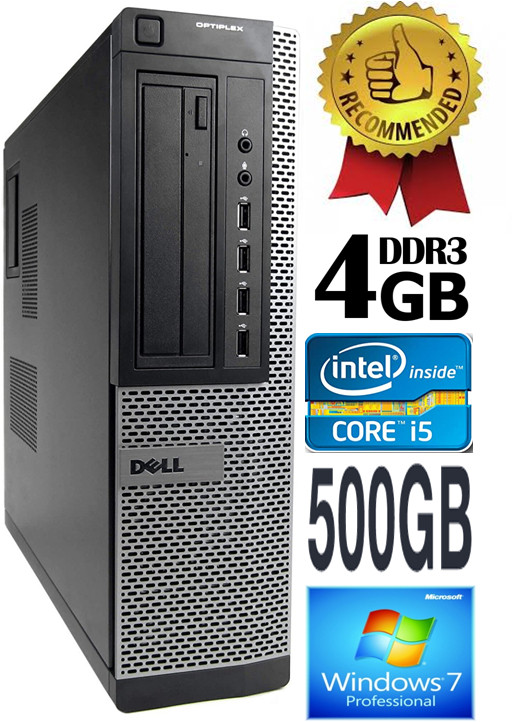 DELL Optiplex 7010 Core i3-2120 3.30GHZ 4GB 500GB DVD Windows 7 Professional Стационарный компьютер